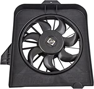 AC A/C Condenser Cooling Fan Assembly Passenger Replacement for 01-05 Dodge Caravan Grand Caravan Chrysler Town & Country Voyager 4809170AE