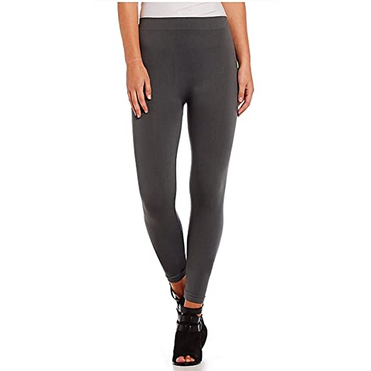 9bac76a768 NSD Seamless Ladies Missy Women s Junior Basic Grey Leggings (One-Size) -  Charcoal
