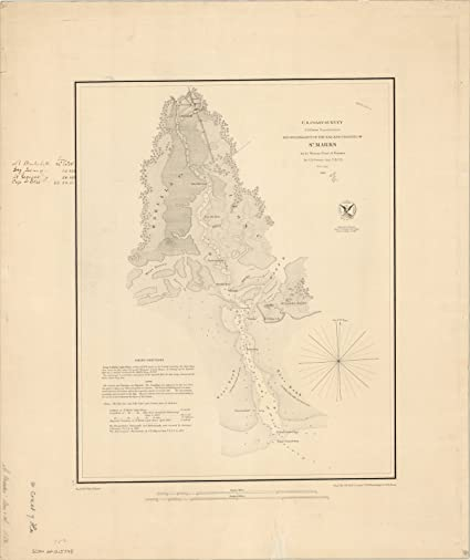 Amazon.com: Historic Map   Florida 1852   Reconnaissance of The bar ...