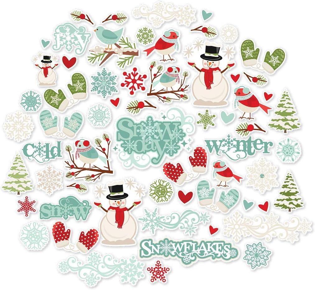 Miss Kate Cuttables ダイカット&ペーパーセット ウィンターワンダーランド クリスマス用 両面16枚 12×12インチ プレミアムスペシャルティペーパーシート 60種類以上のコーディネートダイカット