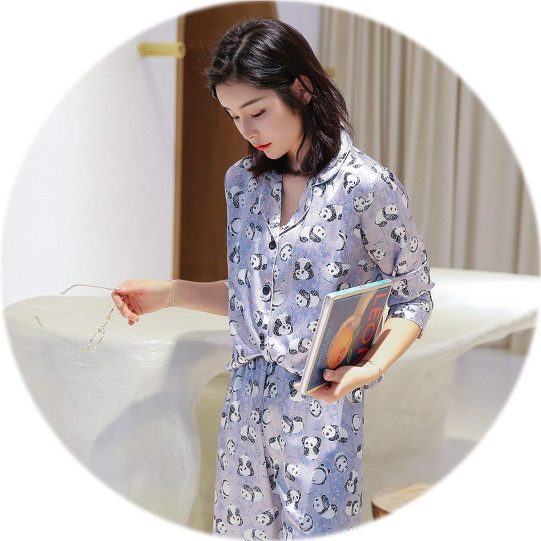 Black Be fearless Women 2019 Spring Satin Pijamas Women Casual Elegant Pyjama Femme Silk Pijama women Homewear