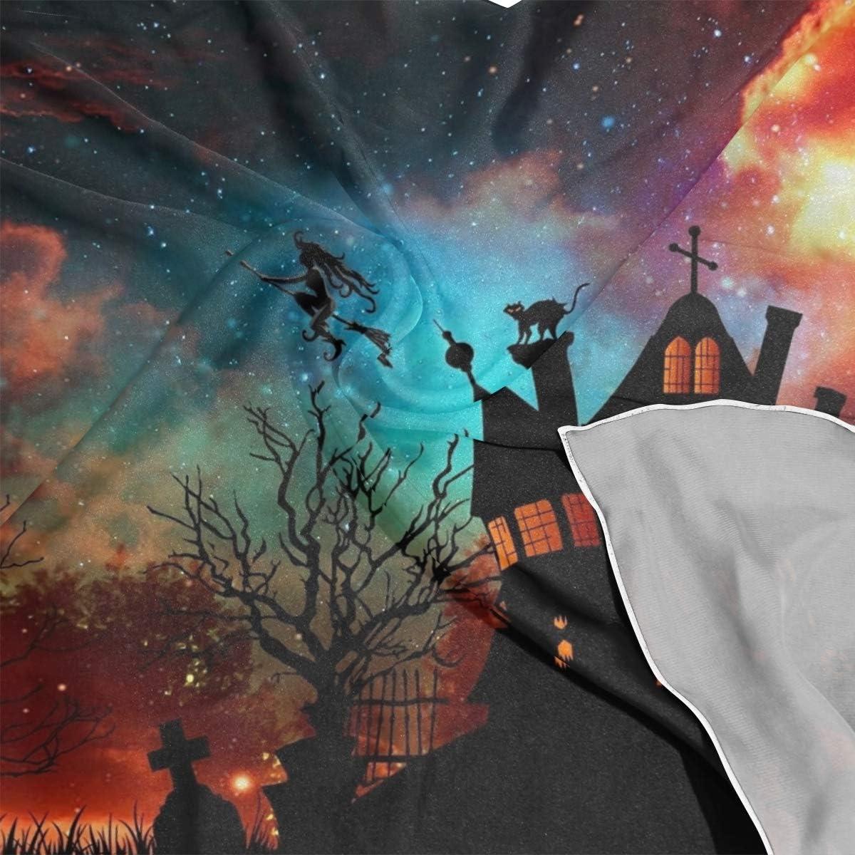 LUPINZ /Écharpe en soie pour femme Happy Halloween Day carr/é 23,6 x 23,6 cm
