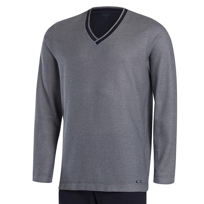 Impetus, Pijama cardado - Mumbai, 4551D99. Algodón, Color Marino, Talla L: Amazon.es: Ropa y accesorios