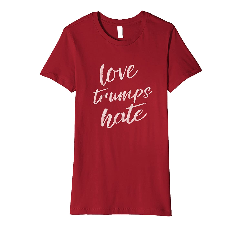 Pink Love Trumps Hate T Shirt Bernie Sanders Hillary Clinton