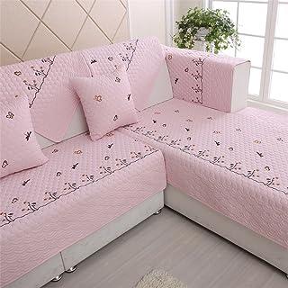 Home UK- Europea Ricamo Style Divano Mats Moderna Minimalista Moda Creativa Arte del Panno Antiscivolo Cuscino del Divano Cuscino Asciugamano Divano (Dimensioni : 45 * 45cm Cushion Cover)