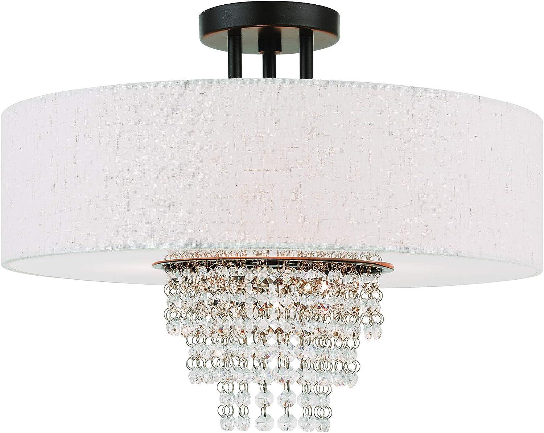 Livex Lighting 51097-92 Max 48% OFF Carlisle Ranking TOP19 English Light Ceiling Bronze 4