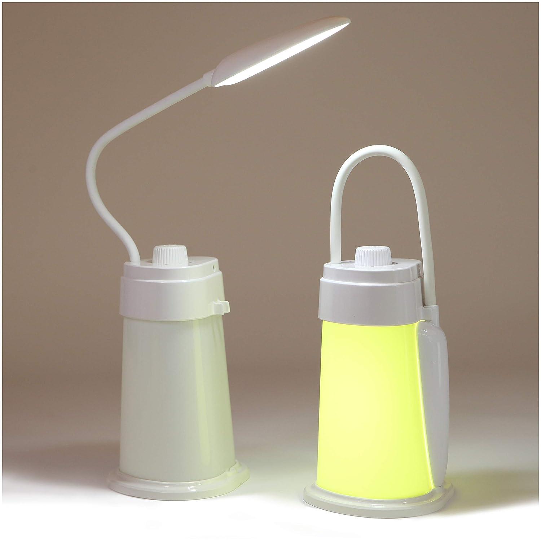 Lampada da lettura convertibile a LED e lanterna da campeggio, lampada da comodino a luce notturna da comodino con luce bianca calda e morbida, collo flessibile, luminosità regolabile, ricaricabile, adatta per una luce da tenda TODDO