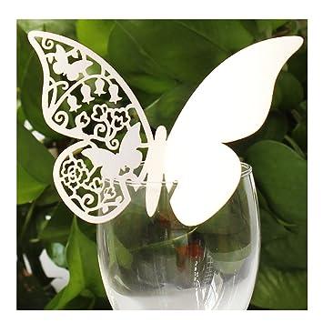 jypc pcs papel de la mesa de la boda de la mariposa colocan naipes de la