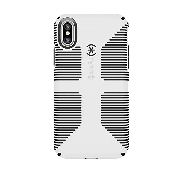 promo code 9ac38 82e27 Speck Products CandyShell Grip Cell Phone Case for iPhone XS/iPhone X -  White/Black