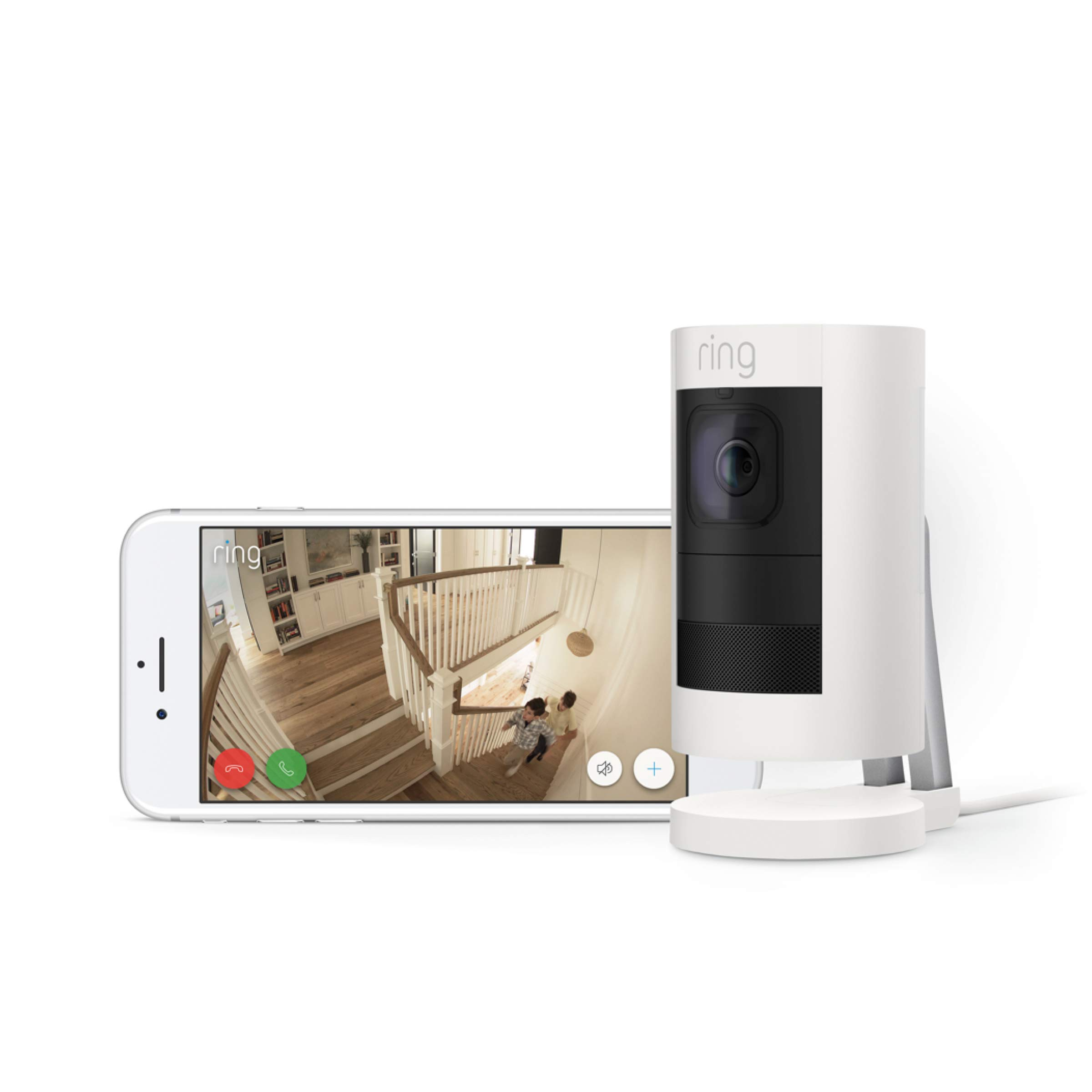 Ring Stick Up Cam Wired HD Security Camera with Two-Way Talk, Night Vision, White, Works with Alexa by Ring (Image #6)