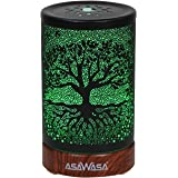 ASAWASA Essential Oil Diffuser,Metal Ultrasonic Aromatherapy Cool Mist Aroma Humidifier with Waterless Auto Shut-Off,7…