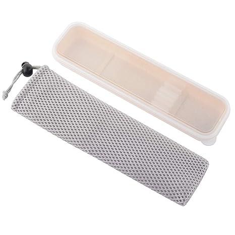 Portable Travel Tableware Storage Box Case Net Bag Cutlery Picnic