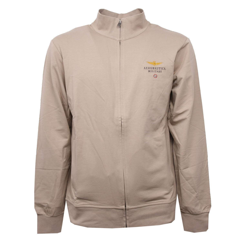 Aeronautica Militare C1012 Felpa  Herren beige Sabbia Con Zip Sweatshirt Men