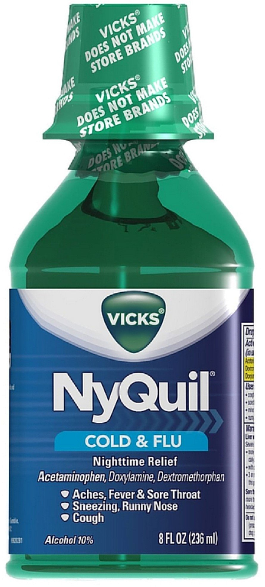 Vicks Nyquil Cold & Flu Nighttime Relief Liquid, Original Flavor 8 oz (Pack of 11)