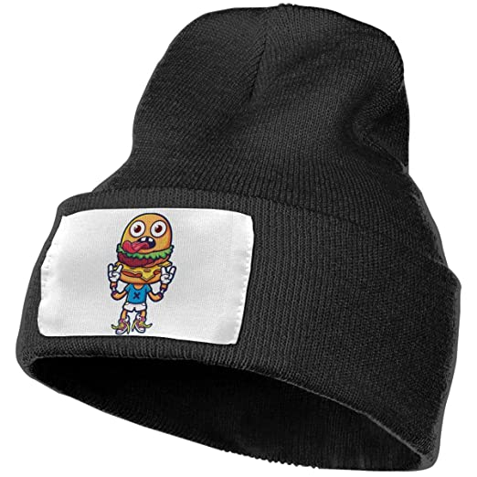Amazon.com  Mr.Hamburger Unisex Knit Hat Cap Soft Warm Winter Hat ... 645311b80d2a