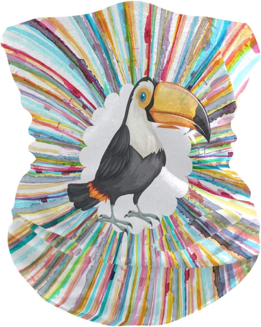 BEUSS Pájaros Carpinteros Balaclava Moto 3D Pañuelo Bandana Máscara de Protección UV para Senderismo al Aire Libre Ciclismo niños Niñas Adultos