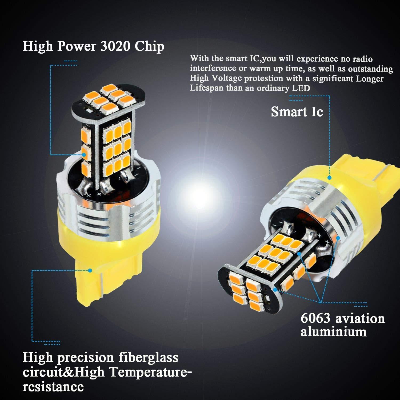 MCK Auto - Reemplazo para T20 7440 LED CanBus Conjunto de ...