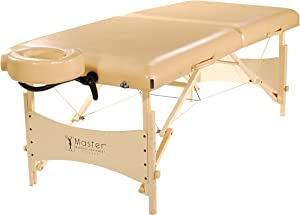 """Master Massage 30"""" Balboa Portable Massage and Exercise Table Beauty Bed in Cream Luster"""
