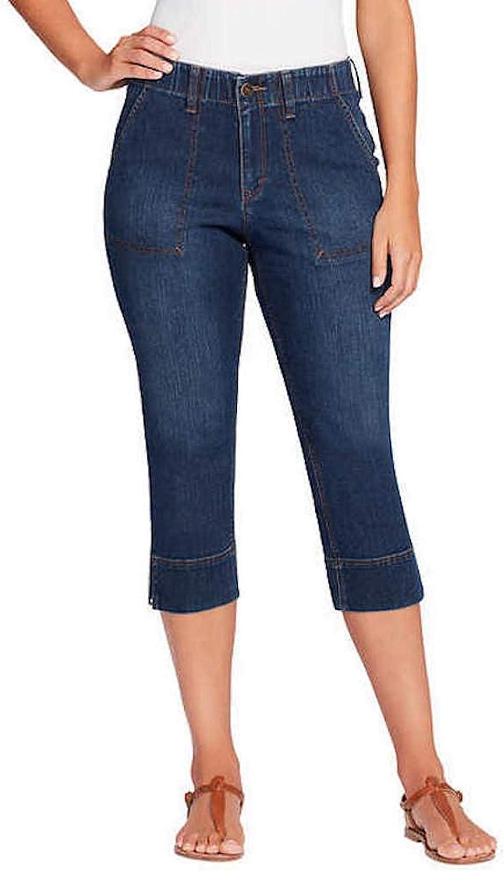 Gloria Vanderbilt Women's Cropped Design Side Slit Cuff Pants