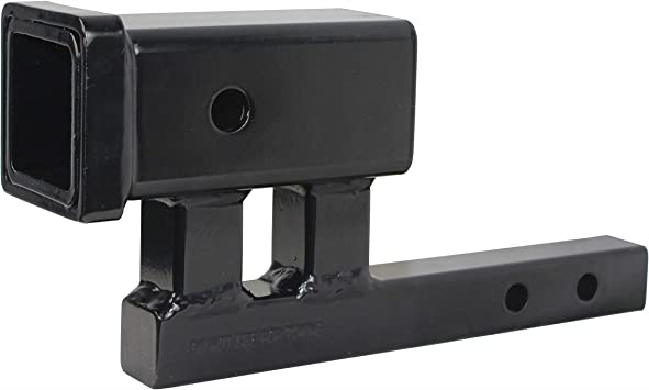 """For ... Details about  /MaxxHaul 80875 1-1//4/"""" to 2/"""" Hitch Adapter With 4/"""" Rise and 3-3//8/"""" Drop"""