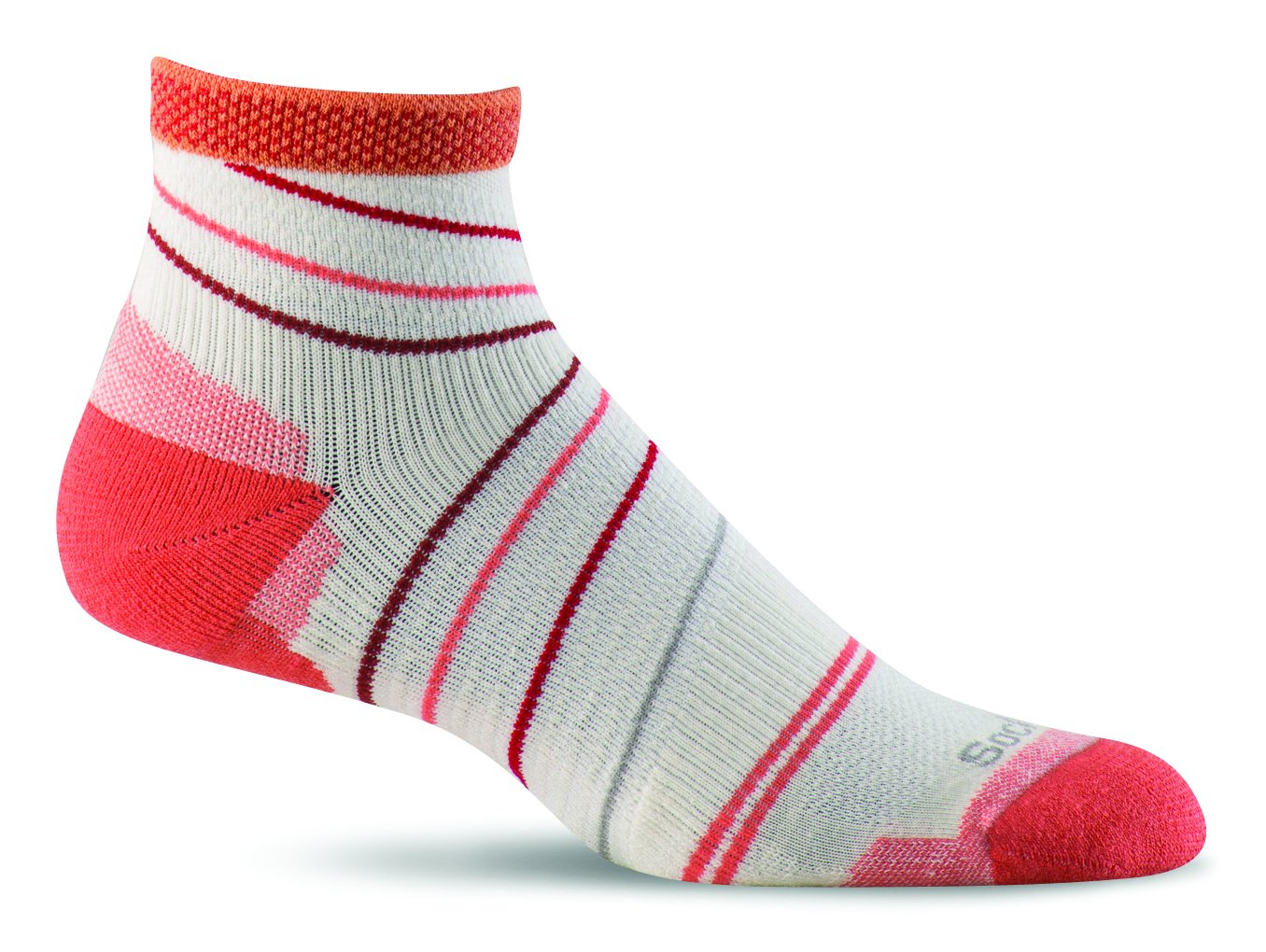 Sockwell Women's Pacer Quarter with Firm Support, Natural, Medium/Large