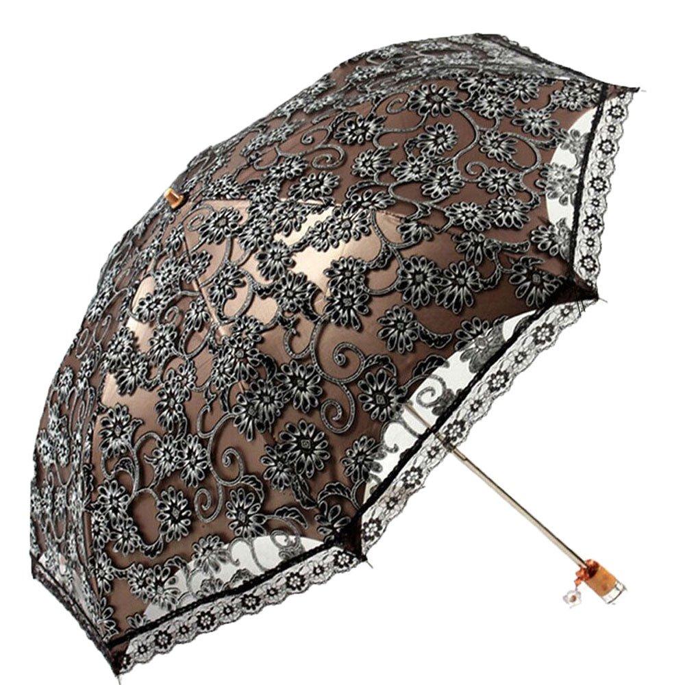Amazon Com Miihome Ladies Umbrella Lace Parasol Folding Umbrella