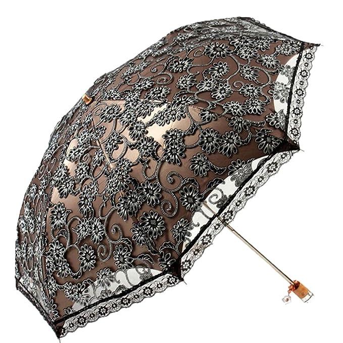 c704c927b415 Sombrilla de encaje para mujer, plegable, de encaje, Sun Shade Anti ...