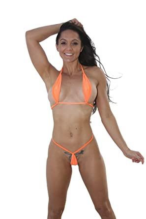 2240d9c89 Amazon.com: Orange Extreme Teardrop G-String Bikini-Sexy Swimwear: Clothing