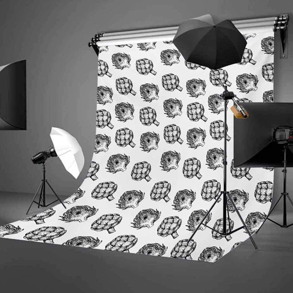 Zodiac Virgo 8x10 FT Photo Backdrops,Doodle Style Astrology Symbol on 1960s 1970s Pop Explosion Background Background for Party Home Decor Outdoorsy Theme Vinyl Shoot Props Black and White