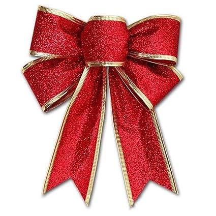 hinmay christmas tree decorations big size 4 color flash cloth christmas tree bowknot decor diy - How To Make A Big Christmas Bow