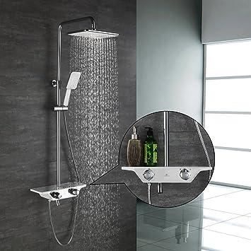Gut gemocht Homelody 3-Funktion Duschsystem mit Thermostat Duscharmatur OB34