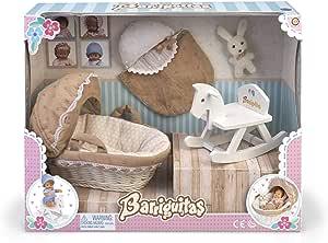 los Barriguitas- Set de capazo, Caballito balancín y Accesorios para bebé (Famosa 700015558): Amazon.es: Juguetes y juegos