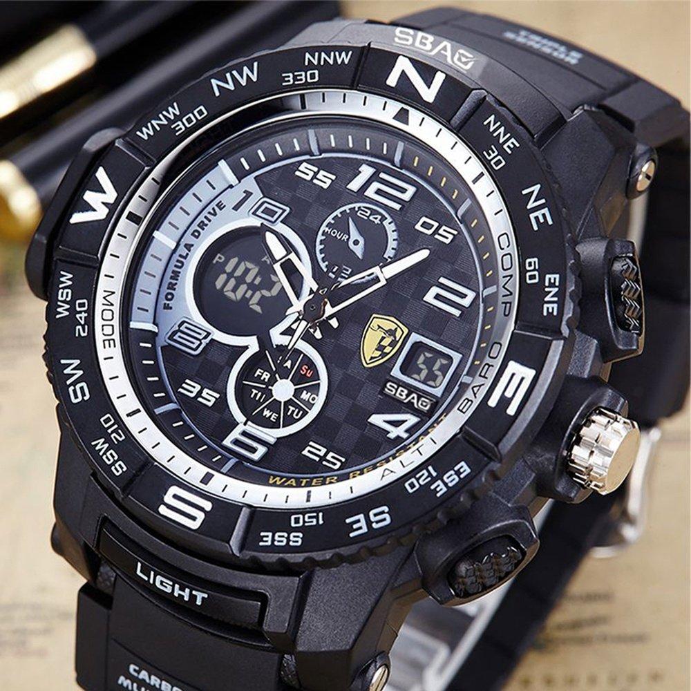 a1efa240e3a8 HWCOO SBAO Relojes Nuevo Reloj Deportivo de los Hombres Deep Diving  Deeplight Nightlight Reloj electrónico multifunción (Color   4)  Amazon.es   Relojes