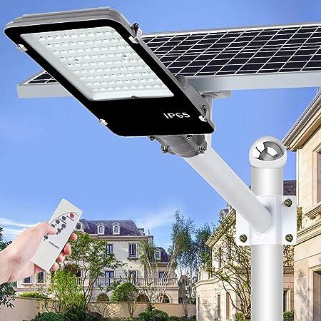 DCV 300W,400W,500W LED Luz De Calle Luces Seguridad Farola Solar LED para Exteriores Atardecer hasta El Amanecer IP65 Impermeable para Jardines Iluminación De áreas De Carretera,300W: Amazon.es: Hogar