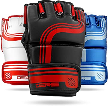 S//M Professional Boxing gloves Sanabul Core 7 oz Hybrid Gloves Black//RED