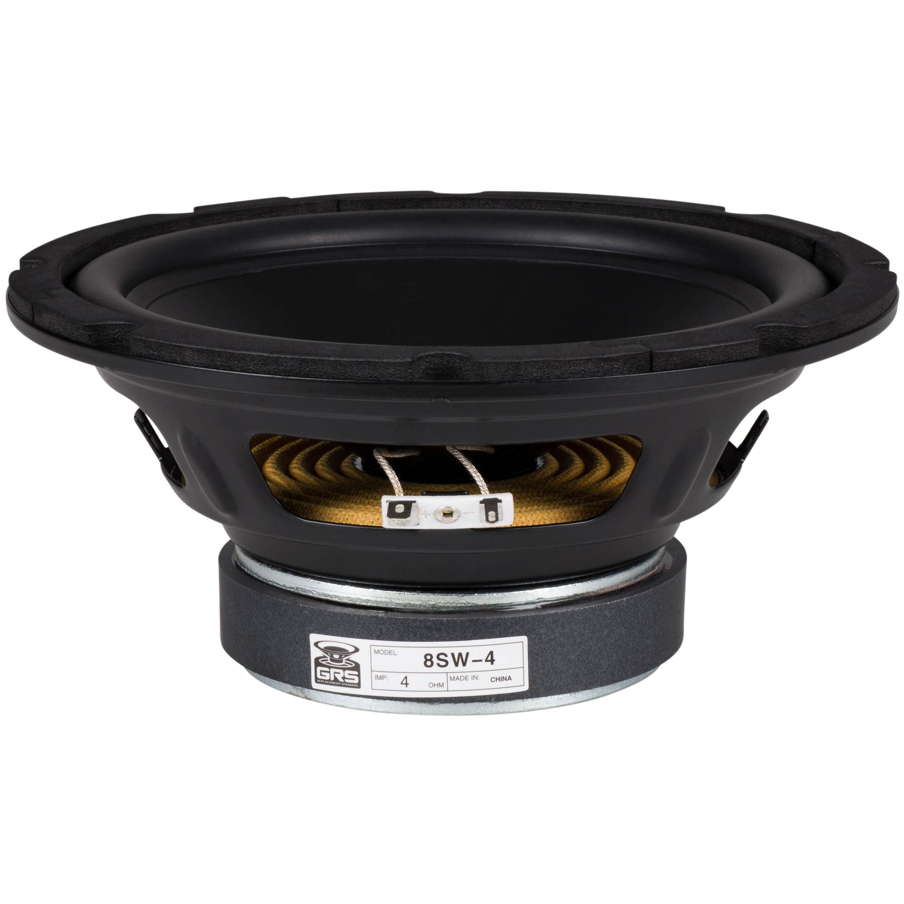 GRS 8SW-4 8'' Poly Cone Subwoofer 4 Ohm by GRS