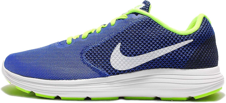 Nike Revolution 3, Zapatillas de Running para Hombre, Azul (Azul (Racer Blue/White-Volt-Black), 38.5 EU: Amazon.es: Zapatos y complementos