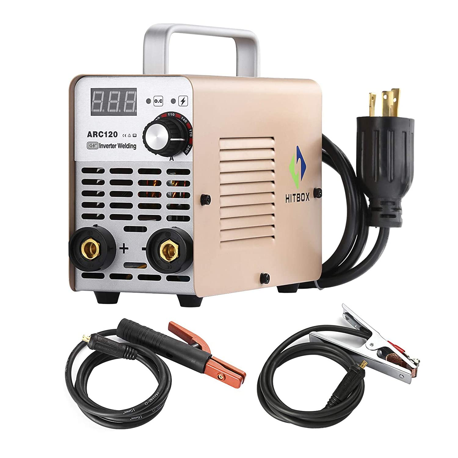 Arc Welder 120a Inverter Igbt 220v Dc Stick Welding Hobart Power Plug 230 Volt Male Plugpin Type 50 Amps Model Machine Tools Home Improvement