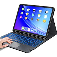 Keyboard Case for iPad Air 4th Generation, Smart Trackpad, 7 Color Backlit, Wireless Detachable Keyboard, with Pencil…
