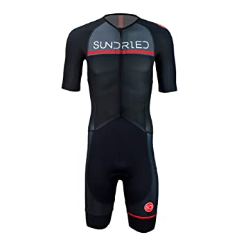 Sundried Hombres Pro Trisuit de Manga Corta Traje de triatlón Ironman Mejor para Racing Tri Suit