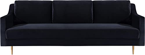 TOV Furniture The Milan Collection Modern Velvet Upholstered Living Room Sofa