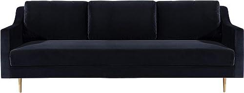 TOV Furniture The Milan Collection Modern Velvet Upholstered Living Room Sofa