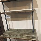 Diwhy Industrial Retro Wall Mount Iron Pipe Shelf Storage Shelving Bookshelf Laptop Desk
