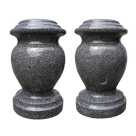 Amazon Granite Vases 6 X 10 Polished Rounded Vase Charcoal Gray