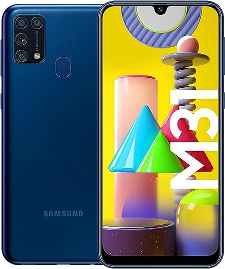 Samsung Galaxy M31 Smartphone (15.92 cm / 6.4 Inches, 64 GB Internal Memory, 6 GB RAM, Android, German Version, Blue