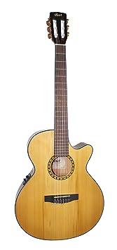 Cort CEC-5 - Guitarra electroacústica (calibre de cuerdas: 28-43), color beige brillante: Amazon.es: Instrumentos musicales