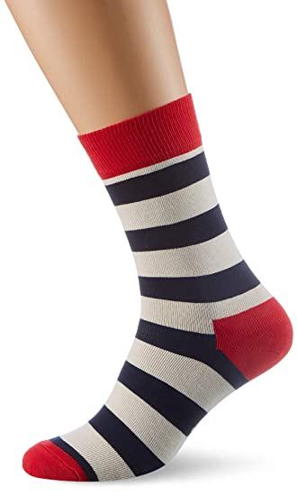 Happy Socks Stripe Sock, Calcetines Casual para Mujer, 100 DEN (Pack de 6): Amazon.es: Ropa y accesorios