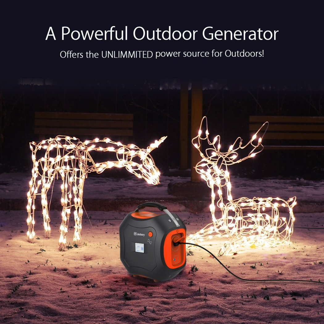 500Wh Portable Generator, Jackery Explorer / Power Pro Rechargeable Lithium Battery Pack Quiet Generator with 110V / 300W AC Outlet, 12V Car, USB Output Clean Off-grid Emergency Power Pack for Camping by Jackery (Image #3)