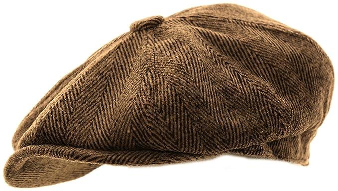 Mens Herringbone Baker Boy Caps  Amazon.co.uk  Clothing 70b0b793377