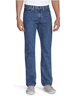 dfbe8173954be3 Eddie Bauer Men's Flex Jeans - Straight Fit at Amazon Men's Clothing ...